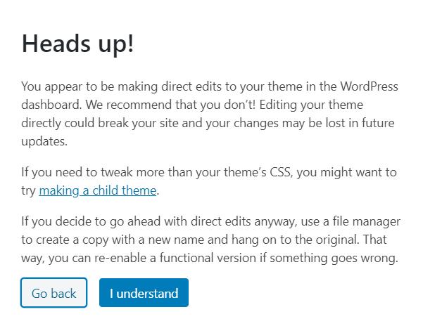 WordPress-Theme-editor