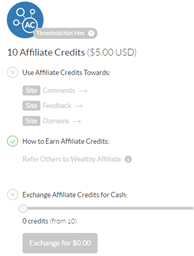 Affiliate-credits-at-Wealthy-Affiliate